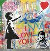 MR BRAINWASH - Peinture - Balloon Girl
