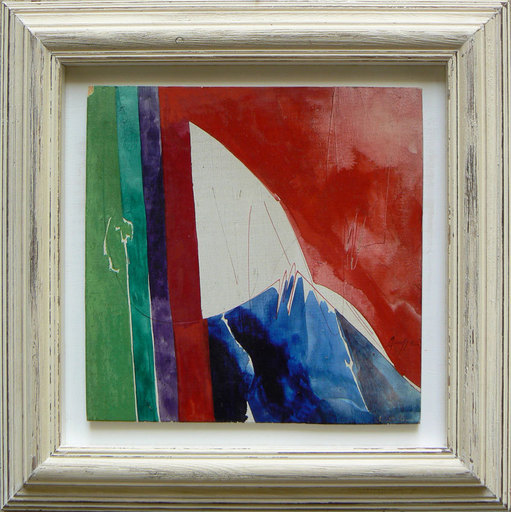 Piero RUGGERI - Painting - Paesaggio rosso 2 NF167