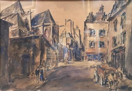 Arturo SOUTO - Dibujo Acuarela - PARIS