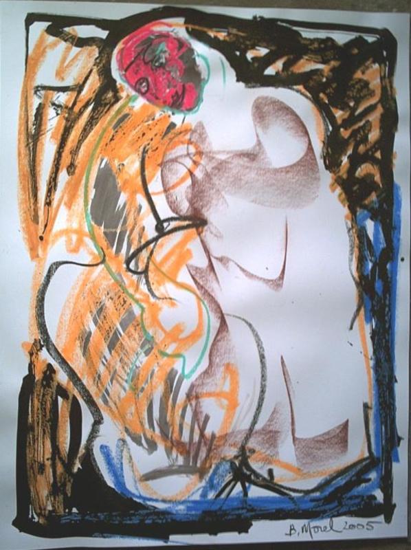 Bernard MOREL - Zeichnung Aquarell - DESSIN(le modèle)