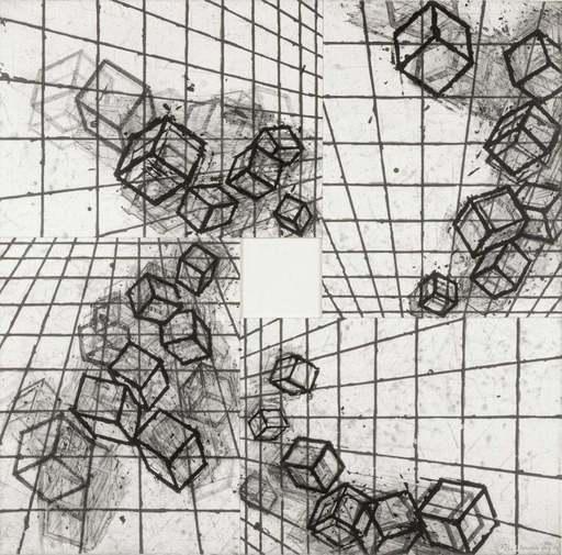 Mel BOCHNER - Estampe-Multiple - Vanishing Point