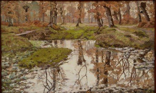 """Jean CABRIT - Pintura - """"SOUS-BOIS EN AUTOMNE PRES DE BORDEAUX"""""""
