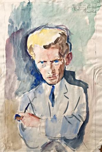 Robert KOHL - Drawing-Watercolor - Portrait