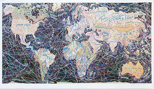 Paula SCHER - Print-Multiple - World Trade Routes