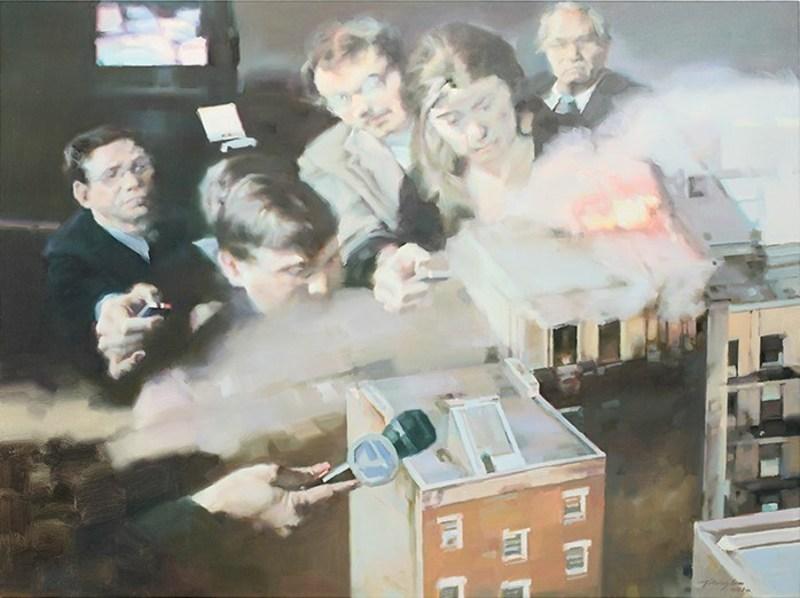 JIANG BO - Painting - City Crises Series II
