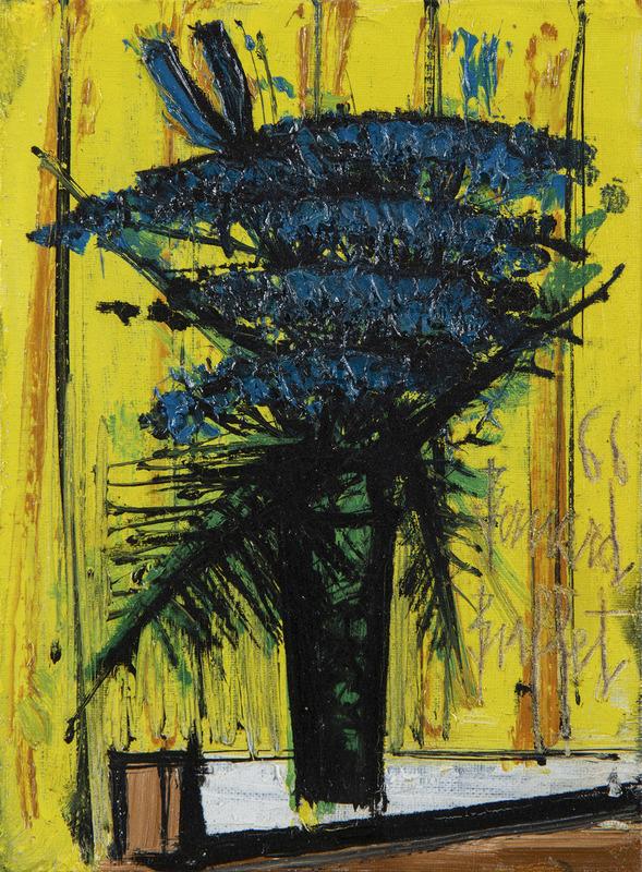 Bernard BUFFET - Pittura - Ombelles bleues