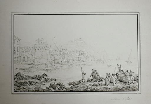 Antonio SENAPE - Dibujo Acuarela - Vietri
