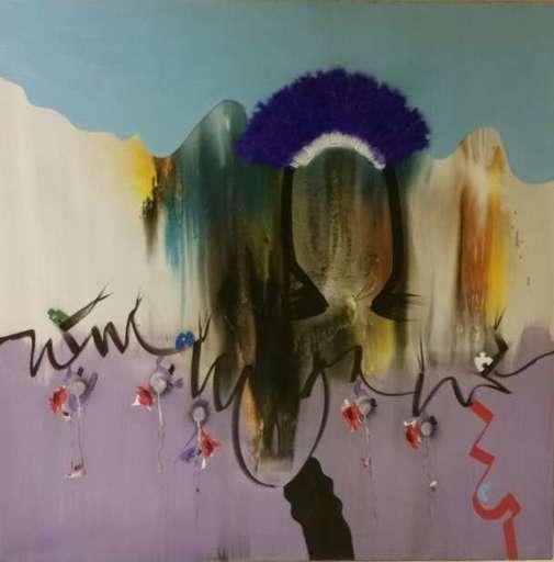 Sergio DANGELO - Peinture - Valle delle orchidee