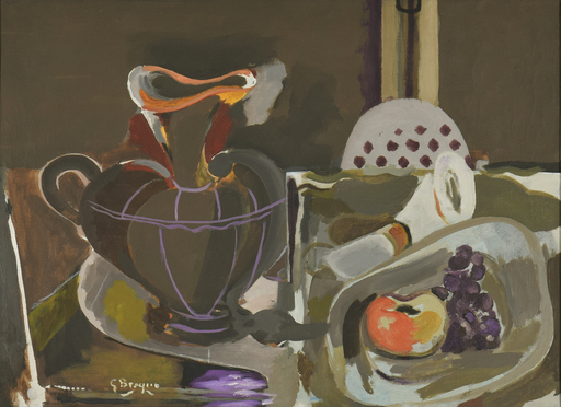 Georges BRAQUE - Painting - Nature Morte à la Grande Cruche