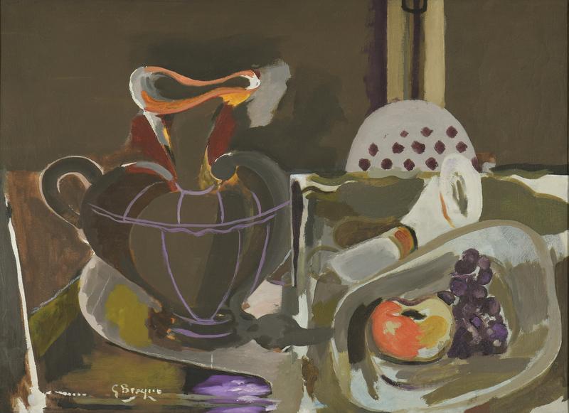 Georges BRAQUE - Pintura - Nature Morte à la Grande Cruche