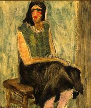 Auguste DUREL - Painting - prostituée à Tunis