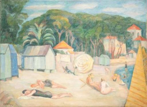 Annie LIEROW - Painting - Plage du sud