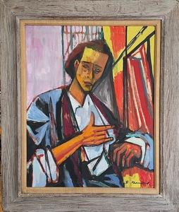 Bruno KRAUSKOPF - Painting - Untitled Portrait (possibly a self portrait)