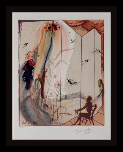 Salvador DALI - Grabado - The Marquis de Sade Allegory Cecille's Chastity