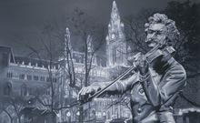 Gian Marco MONTESANO - Pintura - Wien, Monument Strauss