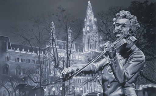 Gian Marco MONTESANO - 绘画 - Wien, Monument Strauss