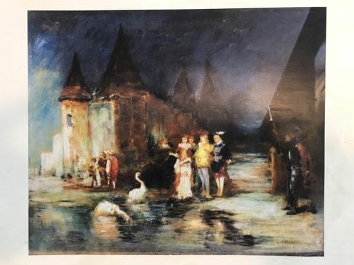 Adolphe MONTICELLI - Painting - Réception dans un parc