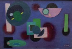 Boris Herbert KLEINT - Painting - Einige Formen auf Violett