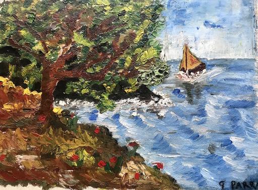"""Ginés PARRA - Pintura - """"Paysage marin"""" Paysage côtier"""