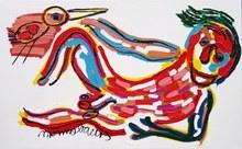 Menno BAARS - Painting - Happy Nude
