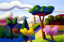 SALVO - Peinture - Paesaggio