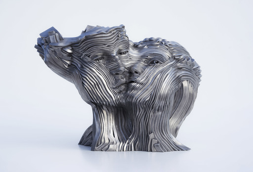 Gil BRUVEL - Skulptur Volumen - Flowing