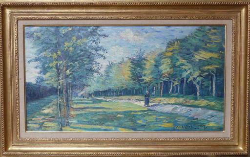 Emmanuel DE LA VILLÉON - Pintura - Avenue de Montmuran