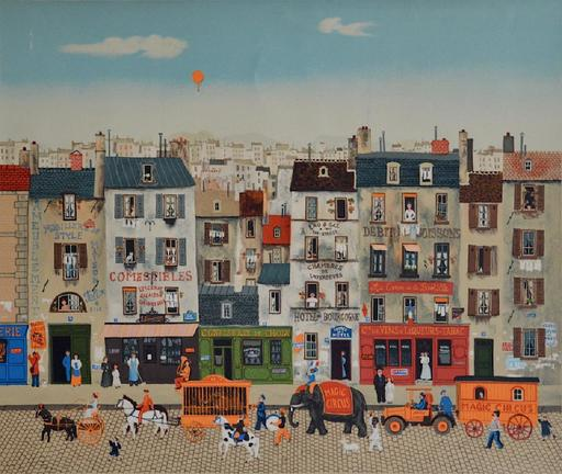 Michel DELACROIX - Grabado - The Circus