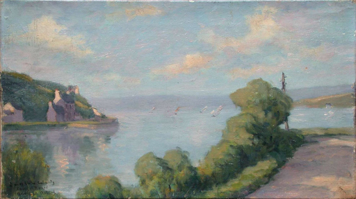 Adolphe ALBERT - Painting - Paysage de Bretagne