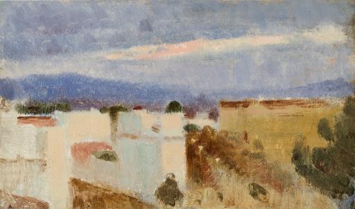 Adolf HIREMY-HIRSCHL - Painting - Dächer über Rom