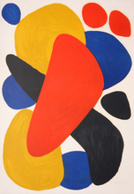 Alexander CALDER - Estampe-Multiple - ABSTRACT COMPOSITION WITH RED, YELLOW, BLUE