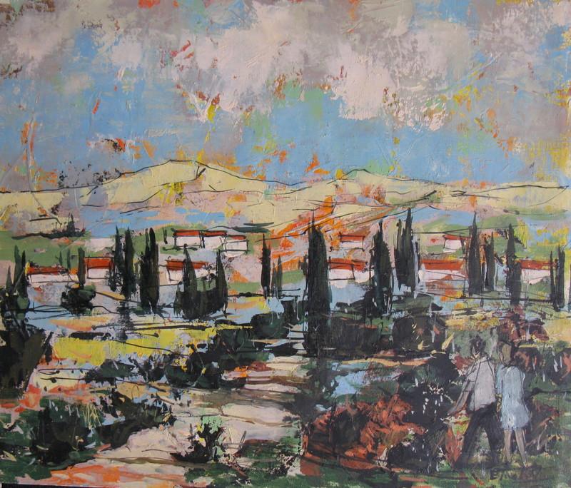 Bertoldo TAUBERT - Pintura - Paysage Provencal