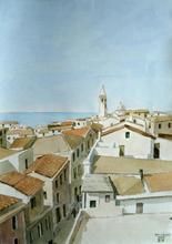 Aldo RISO (1929-2008) - Tetti di Alghero (Sardegna)