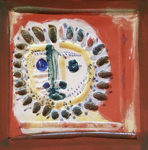 Pablo PICASSO - Ceramic - Petit visage solaire