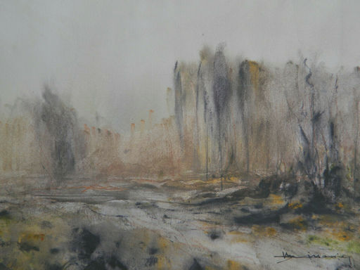 Fleury Francois LINOSSIER - 水彩作品 - PROVENCE -SANARY - PAYSAGE - LANDSCAPE