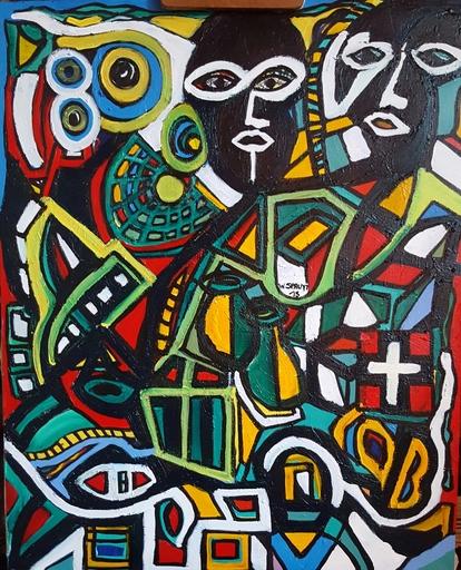 Walter SPRUYT - Pintura - Masques Nr. II