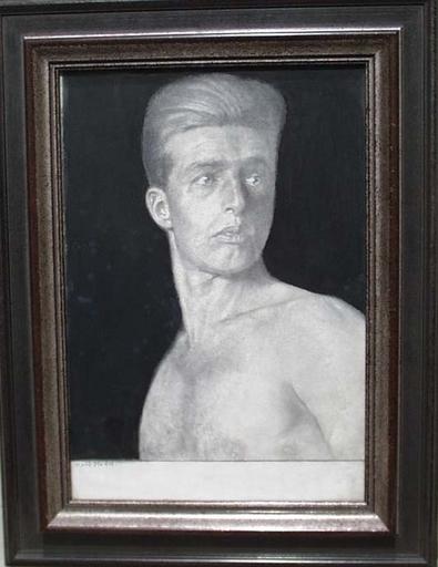 """Karl MEDIZ - 水彩作品 - """"Young Athlete"""" by Karl Mediz, ca 1925"""