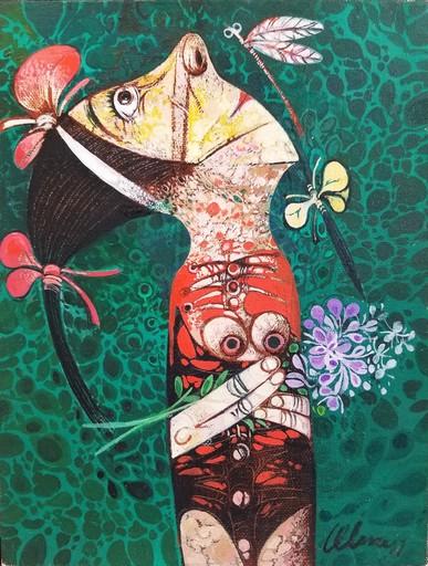 Pedro Pablo OLIVA - Pintura - Bailarina y un insecto. Homenaje a Alicia Alonso