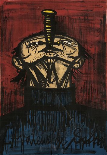 Bernard BUFFET - Print-Multiple - The Sword Swallower, from: My Circus
