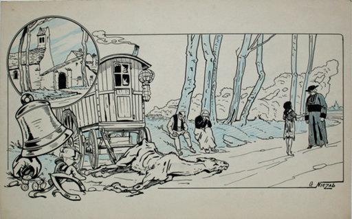 Gaston NIEZAB - Disegno Acquarello