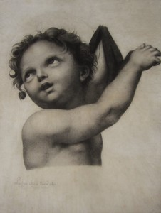 Edme Gratien PARIZEAU - Drawing-Watercolor - Jésus-Christ ou Saint Jean-Baptiste enfant