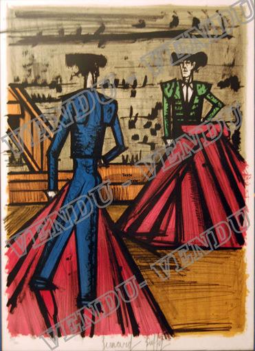 Bernard BUFFET - Print-Multiple - VENDU: DEUX TOREROS FACE A FACE