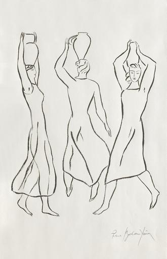 Pierre BONCOMPAIN - Drawing-Watercolor - Les trois Grâces