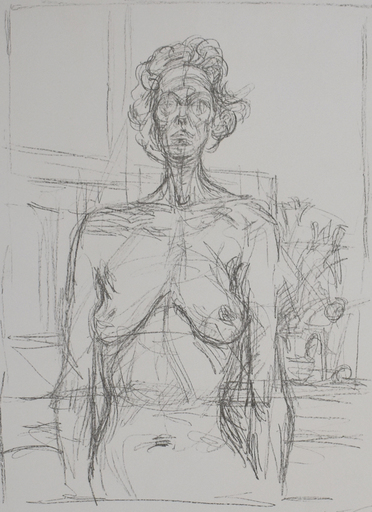 Alberto GIACOMETTI - Estampe-Multiple - Nude with Flowers | Nu aux fleurs