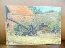 Wilhelm Julius EBERHARDT - Pintura - Bei der Arbeit auf dem Gutshof Güldenstein