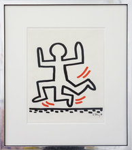 凯特•哈林 - 版画 - 3-Legged Runner