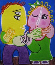 "Juan GARCIA RIPOLLES - Print-Multiple - AQUAGRAVURE   ""LE COUPLE"""