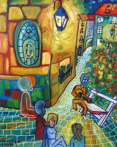 Bernard PINEAU - Painting - H042 Chants Sons