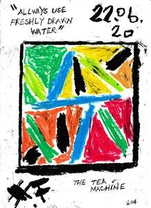 Harry BARTLETT FENNEY - Disegno Acquarello - the tea machine