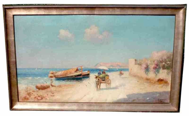 Erminio KREMP - Painting - 3 Gemälde Sizilien Sicilia, 3 Paintings Sicily